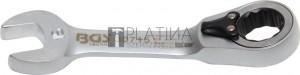 BGS Technic Racsnis csillag-villáskulcs, rövid, átkapcsolható   15 mm