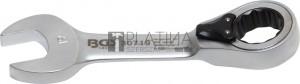 BGS Technic Racsnis csillag-villáskulcs, rövid, átkapcsolható   19 mm