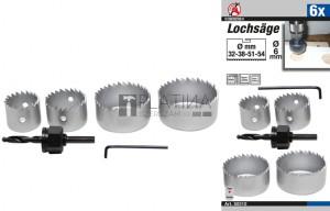 BGS Kraftmann Lyukfűrész-készlet | Ø 32 - 54 mm | 6 darabos