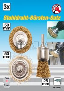 BGS Kraftmann Drótkefe-készlet fúrógépekhez | 3 darabos