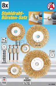 BGS Kraftmann Acélhuzalkefe készlet | Ø 25 - 75 mm | 8 darabos