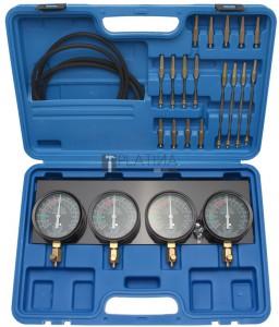 BGS Technic Szinkron karburátor vizsgáló készülék | 4 szinkronórával | 28 darabos