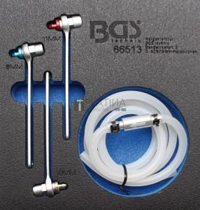 BGS Technic Légtelenítőkulcs-készlet hidraulikus fékhez | 8 - 10 - 11 mm | 4 darabos