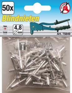 BGS Kraftmann Popszegecs-készlet | Ø 4,8 mm | 50 darabos