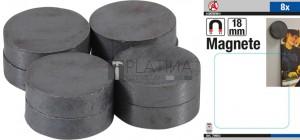 BGS Kraftmann Mágneskészlet | kerámia | Ø 18 mm | 8 darabos