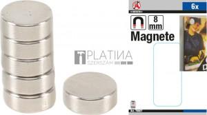 BGS Kraftmann Mágneskészlet | extra erős | Ø 8 mm | 6 darabos