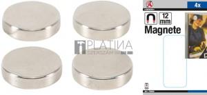 BGS Kraftmann Mágneskészlet | extra erős | Ø 12 mm | 4 darabos