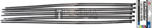 BGS Kraftmann Kábelkötegelő-készlet | fekete | 8,0 - 900 mm | 10 darabos