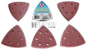 BGS Kraftmann Csiszolópapír deltacsiszolóhoz | 95 x 95 mm | K 40 - 180 | 50 darabos