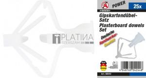 BGS Kraftmann Gipszkarton-tipli készlet | 25 darabos