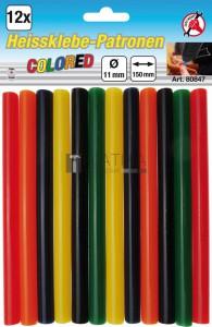 BGS Kraftmann Melegenragasztó-patronok | vegyes színű | Ø 11 mm, 150 mm | 12 darabos