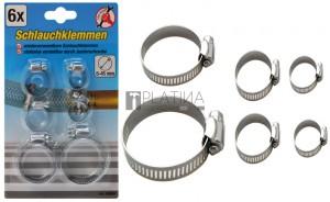 BGS Kraftmann Tömlőbilincs-készlet | Ø 4 - 45 mm | 6 darabos