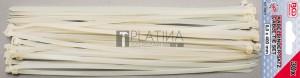 BGS Technic Kábelkötegelő-készlet | fehér | 8,0 x 400 mm | 30 darabos
