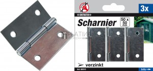 BGS Kraftmann Csuklópánt-készlet | 50 x 50 mm | 3 darabos