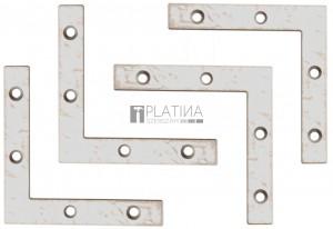 BGS Kraftmann L-derékszög | 75 x 75 x 12 mm | 4 darabos