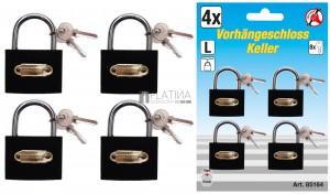 BGS Kraftmann Lakatkészlet | egyforma kulcs | típus: L | 35 mm | 4 darabos