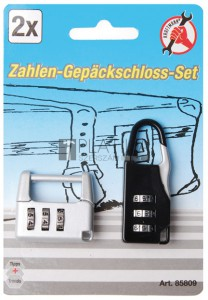 BGS Kraftmann Számzáras poggyászlakat készlet | 2 darabos