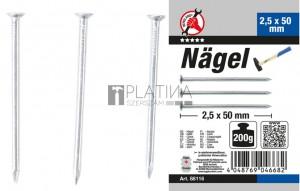 BGS Kraftmann Szög-készlet | 200 g | 2,5 x 50 mm