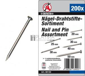 BGS Kraftmann Szeg-/huzalszeg készlet | 200 darabos
