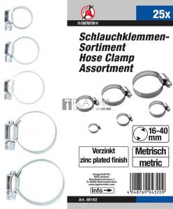 BGS Kraftmann Tömlőbilincs-készlet | 25 darabos