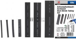 BGS Kraftmann Zsugorcső készlet   fekete   126 darabos