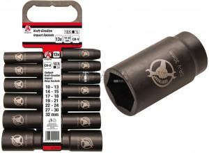 BGS Kraftmann Levegős dugókulcskészlet | 12,5 mm (1/2 ) | 10 - 32 mm | 13 darabos