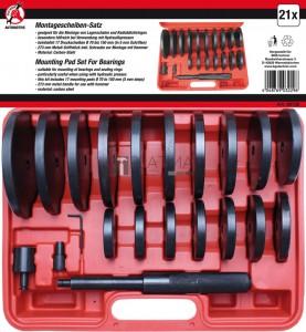BGS Kraftmann Kerékcsapágy szerelőtárcsa-készlet | XXL | 21 darabos