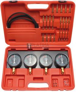 BGS Kraftmann Szinkron karburátor vizsgáló készülék | 4 szinkronórával | 26 darabos