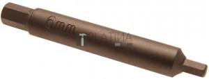 BGS Technic Speciális behajtófej dugattyúrúd ellentartásához lengéscsillapítókon | Belső hatszögletű 6 mm