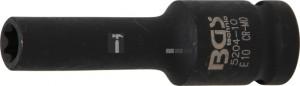 BGS Technic Levegős dugókulcs E-profil, mély | 12,5 mm (1/2) | E10