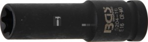 BGS Technic Levegős dugókulcs E-profil, mély | 12,5 mm (1/2) | E16