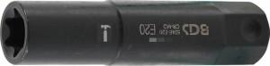 BGS Technic Dugókulcs E-profil, extra hosszú | Külső hatszögletű 22 mm | E20