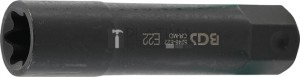 BGS Technic Dugókulcs E-profil, extra hosszú | Külső hatszögletű 22 mm | E22
