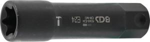 BGS Technic Dugókulcs E-profil, extra hosszú | Külső hatszögletű 22 mm | E24