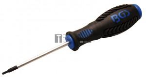 BGS Technic Csavarhúzó | T-profil (Torx) T8 furattal | Pengehossz 80 mm