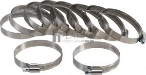 BGS Technic Tömlőbilincs | INOX | 50 x 70 mm | 10 darabos