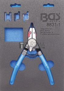 BGS Technic Seegerfogó | Külső-/ belső seeger-gyűrűk | cserélhető hegyek | 180 mm