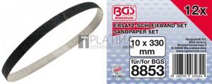 BGS Technic Csiszolószalag | 10 mm x 330 mm | 12 db a BGS 8853-hez
