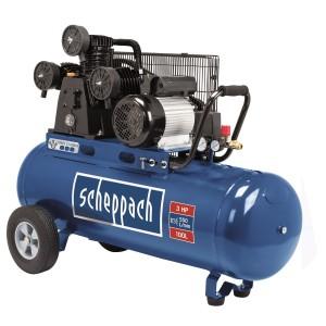 Scheppach HC 550 TC három hengeres ékszíjas kompresszor 100l, 2,2kW, 10bar