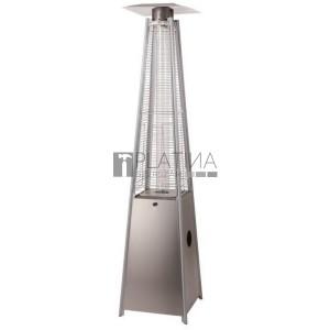 MEVA Pyramída gázüzemű teraszfűtő hőkandeláber (13 kW) rozsdamentes acél