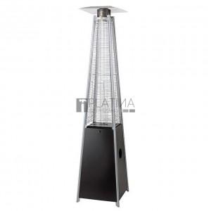 MEVA Pyramída gázüzemű teraszfűtő hőkandeláber (13 kW) fekete