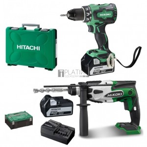 Hitachi-Hikoki DS18DBSL akkus fúró + DH18DSL fúrókalapács (2 x 5.0Ah)