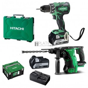 Hitachi-Hikoki DS18DBSL akkus fúró + DH18DBL fúrókalapács (2 x 5.0Ah)