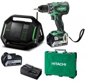 Hitachi-Hikoki DS18DBSL akkus fúró + UR18DSAL rádió (2 x 5.0Ah)