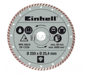 Einhell gyémánt vágókorong (250 x 25,4 mm) RT-SC 570