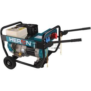 Heron benzinmotoros áramfejlesztő, 6800 VA, 400/230 V, hordozható