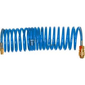 Extol légtömlő spirál kompresszorhoz; 15 Bar, belső átmérő: 6mm, PU, 1/4 gyorscsatlakozóval