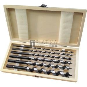 Extol fafúró klt. 6 db, 6-8-10-12-16-20×260mm, csavaros heggyel, hatszög befogás; fa dobozban