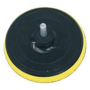 Extol gumitányér fúrógéphez; 125mm tépőzáras, befogás: 8mm, max. 10.000 ford/perc