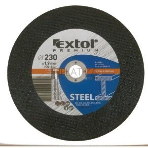 Extol vágókorong acélhoz, kék; 230×1,9×22,2mm, max 6.600 ford/perc, (darabáras, de csak ötösével rendelhető)